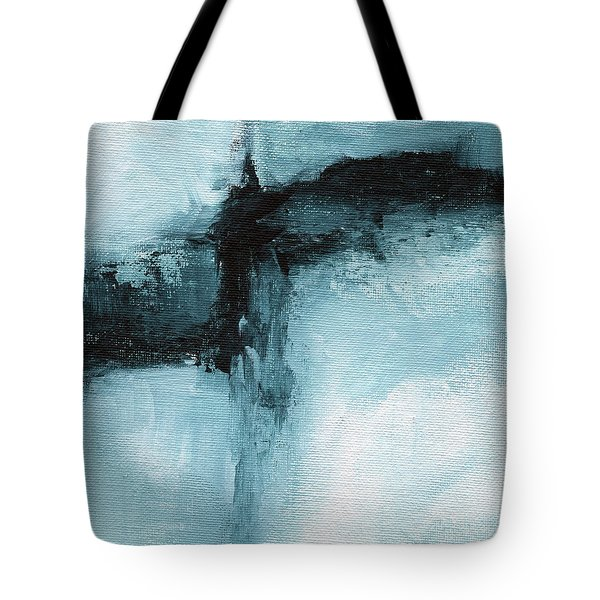 Blue Ridge- Abstract Art By Linda Woods Tote Bag