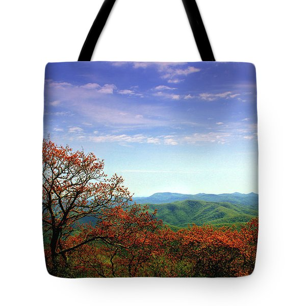 Tote Bag featuring the photograph Blue Ridge Blessing by Jessica Brawley
