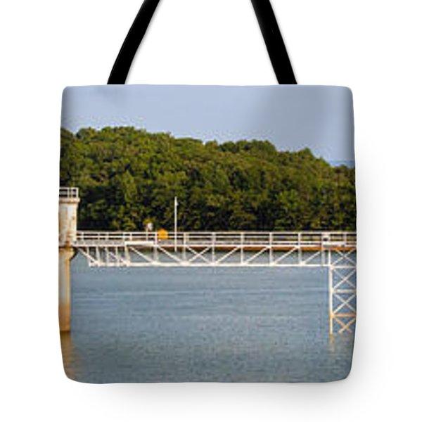 Blue Ridge Dam - Panoramic Tote Bag