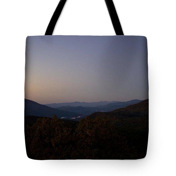 Blue Ridge Dawn Tote Bag