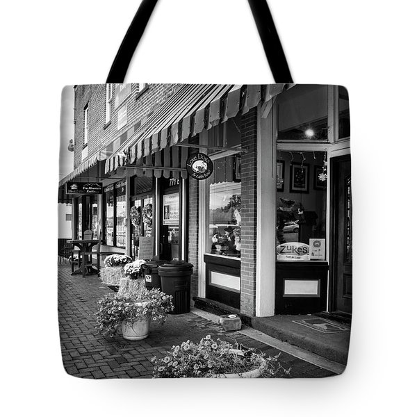 Blue Ridge Love Dogs In Black And White Tote Bag