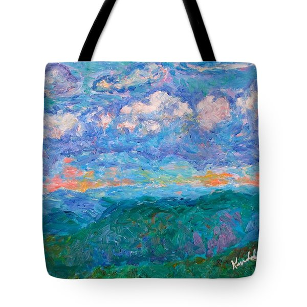 Blue Ridge Magic From Sharp Top Stage One Tote Bag by Kendall Kessler