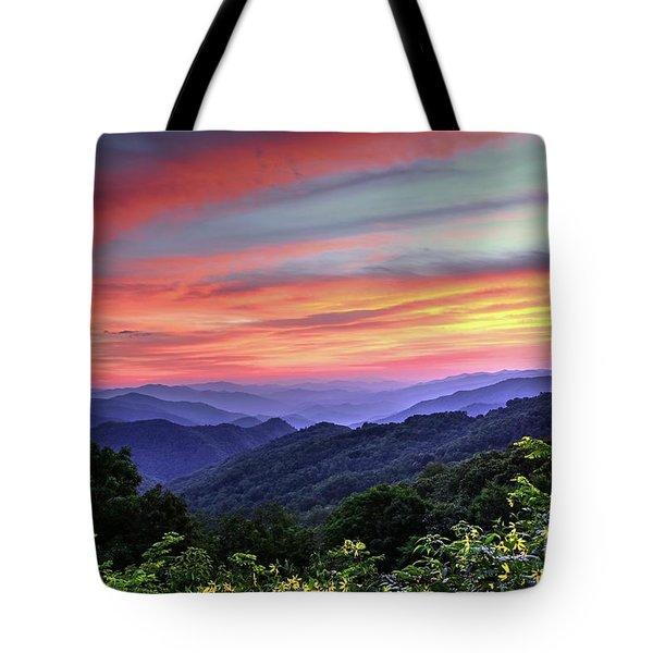 Blue Ridge Mountain Color Tote Bag
