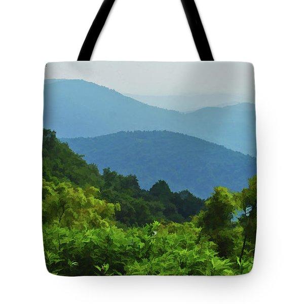 Blue Ridge Mountain Layers Tote Bag