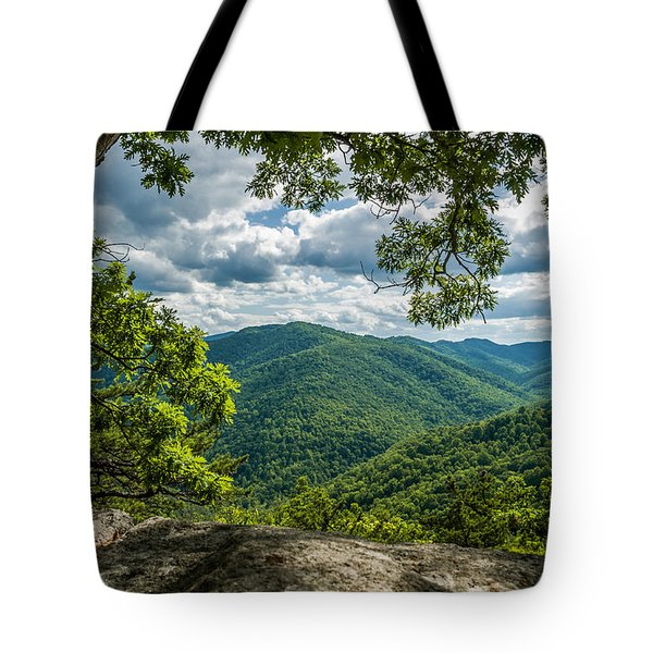 Blue Ridge Mountain View Tote Bag