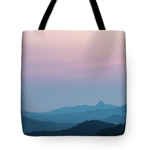 Blue Ridge Mountains After Sunset Tote Bag