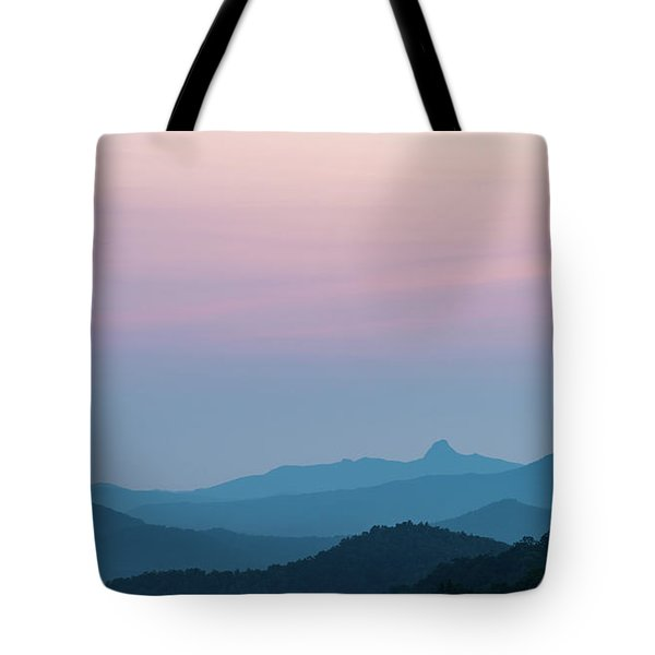 Blue Ridge Mountains After Sunset Tote Bag