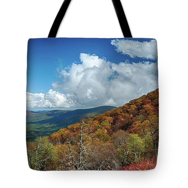 Blue Ridge Mountains In The Fall 1 Tote Bag