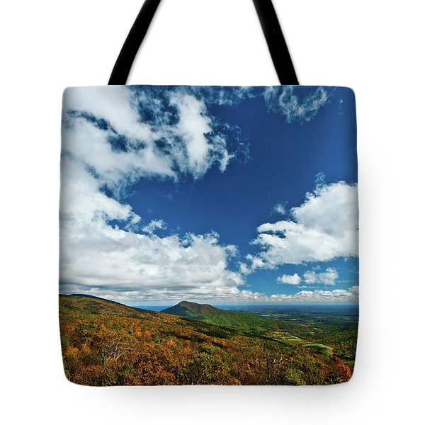 Blue Ridge Mountains In The Fall 2 Tote Bag