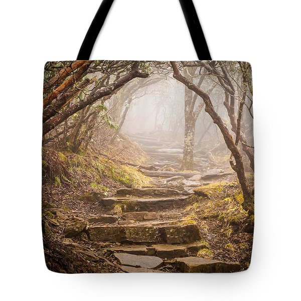 Blue Ridge Mountains Nc Into The Mystic Tote Bag