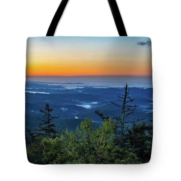 Blue Ridge Mountains Sunrise Tote Bag