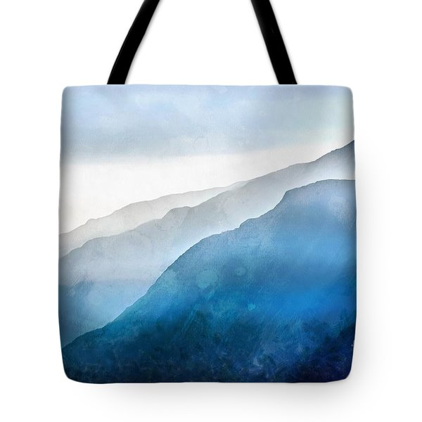 Tote Bag featuring the painting Blue Ridge Mountians by Edward Fielding