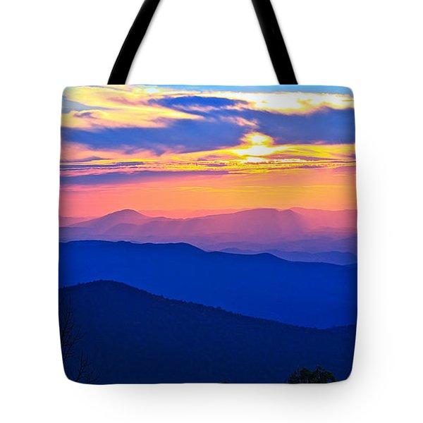 Blue Ridge Parkway Sunset, Va Tote Bag