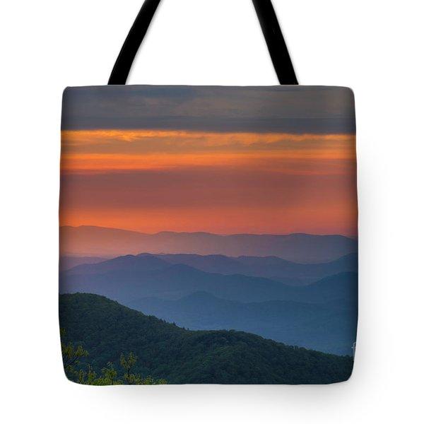 Blue Ridge Sunrise At Wintergreen  Tote Bag