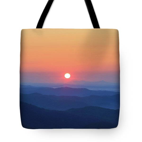 Blue Ridge Sunrise Tote Bag