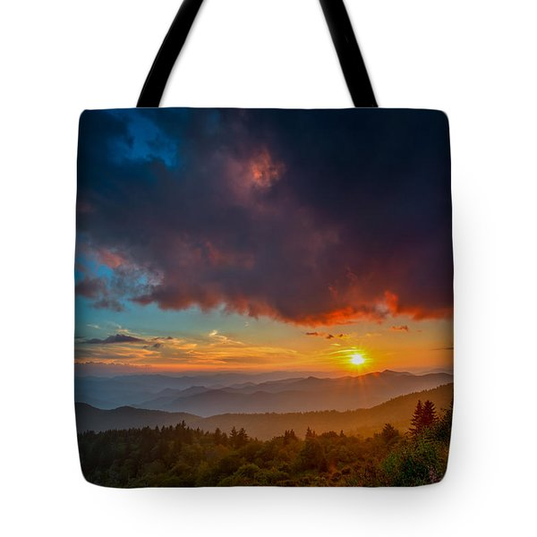 Tote Bag featuring the photograph Blue Ridge Sunset by Joye Ardyn Durham