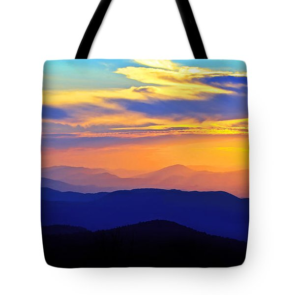 Blue Ridge Sunset, Virginia Tote Bag