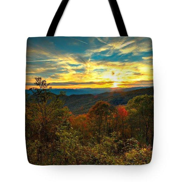 Blue Ridge Sunsets Tote Bag