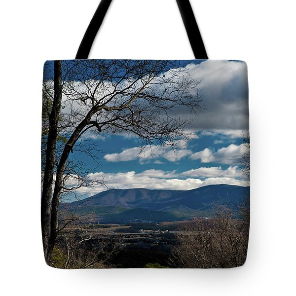 Blue Ridge Thornton Gap Tote Bag by Lara Ellis