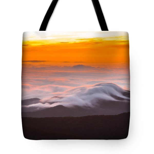 Tote Bag featuring the photograph Blue Ridge Valley Of Clouds by Serge Skiba