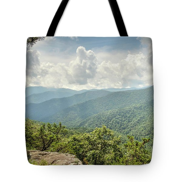 Blue Ridge View Tote Bag