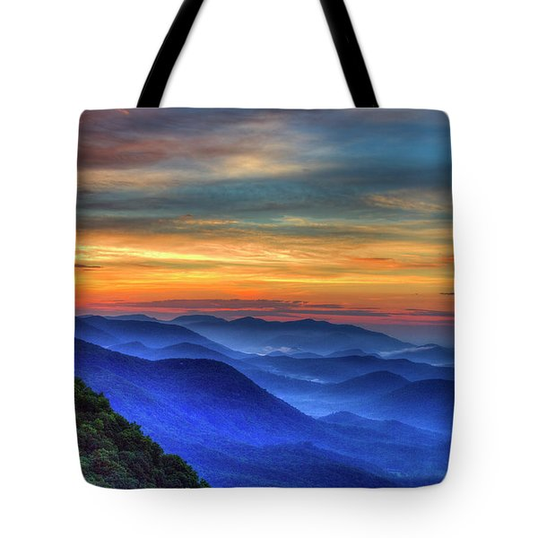 Tote Bag featuring the photograph Blue Ridges 2 Pretty Place Chapel View Great Smoky Mountains Art by Reid Callaway