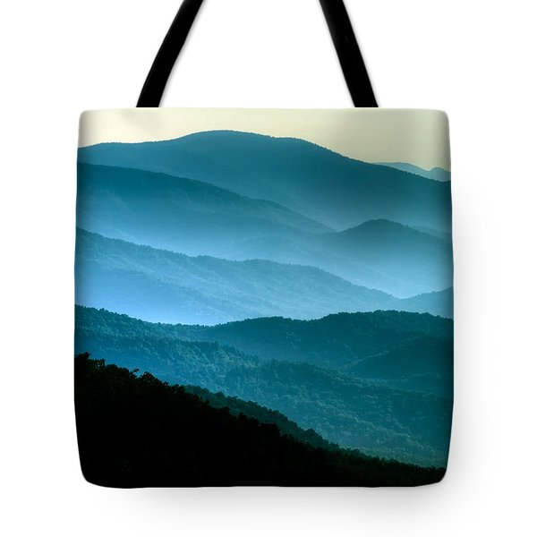 Blue Ridges Tote Bag