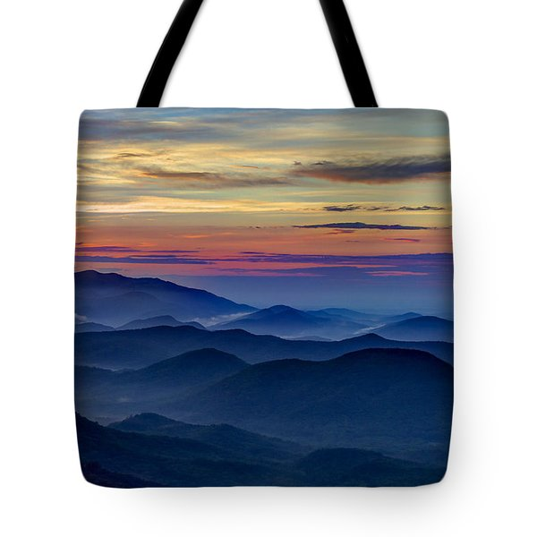 Tote Bag featuring the photograph Blue Ridges Pretty Place Chapel by Reid Callaway