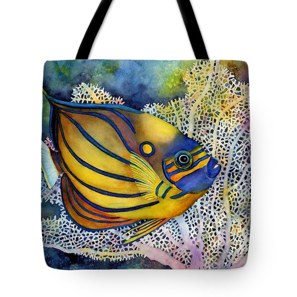 Blue Ring Angelfish Tote Bag