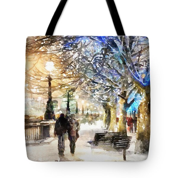 Blue Romance Tote Bag by Shirley Stalter