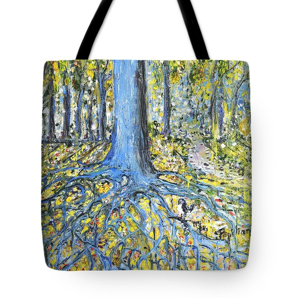 Blue Roots Tote Bag
