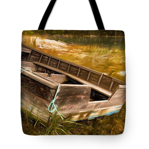 Blue Rope, Barter's Island, Maine Tote Bag by Dave Higgins
