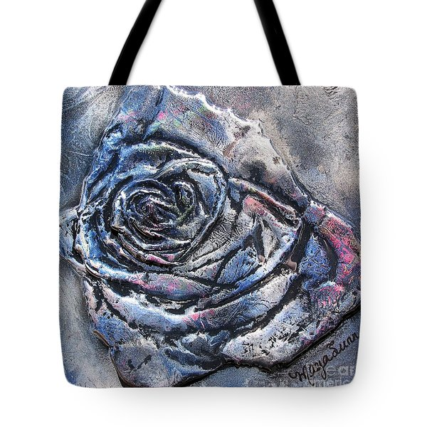Blue Rose 3d Sculpture Painting Tote Bag