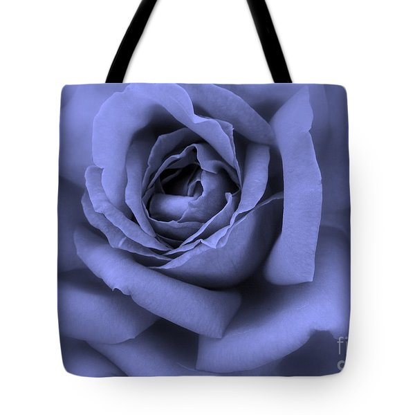 Blue Rose Abstract Tote Bag by Carol Groenen