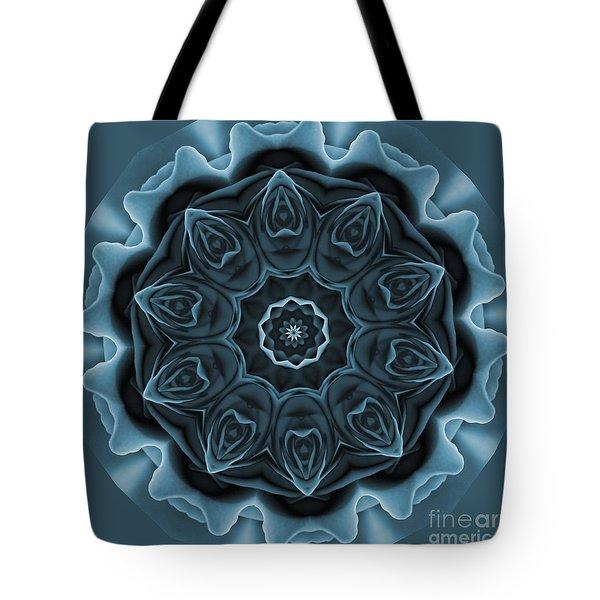 Blue Rose Mandala Tote Bag