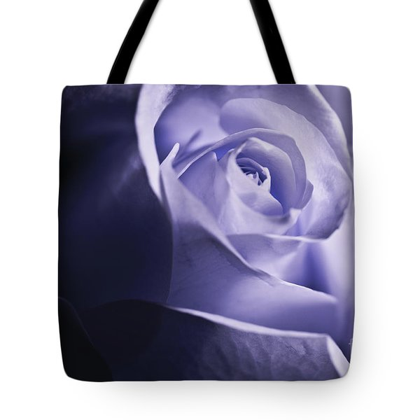 Blue Rose Tote Bag by Micah May