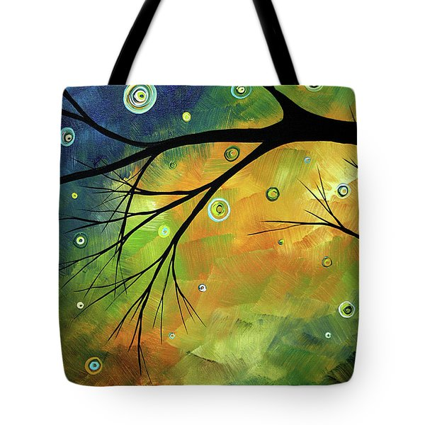 Blue Sapphire 2 By Madart Tote Bag by Megan Duncanson