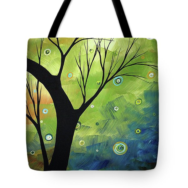 Blue Sapphire 3 By Madart Tote Bag by Megan Duncanson