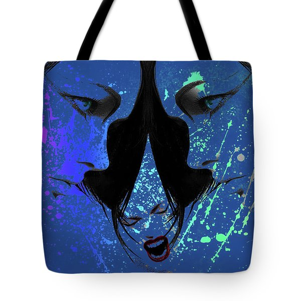 Tote Bag featuring the digital art Blue Screamer by Greg Sharpe