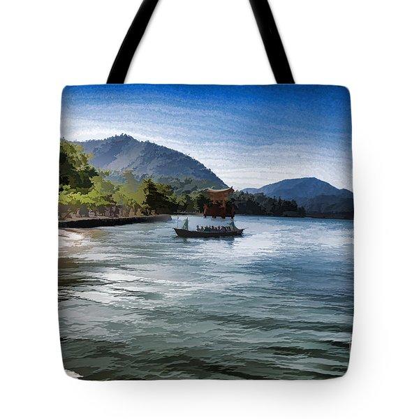 Blue Sea Tote Bag by Pravine Chester