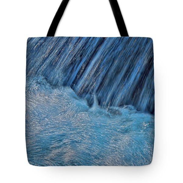Blue Seam Tote Bag by Britt Runyon