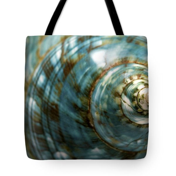 Blue Seashell Tote Bag