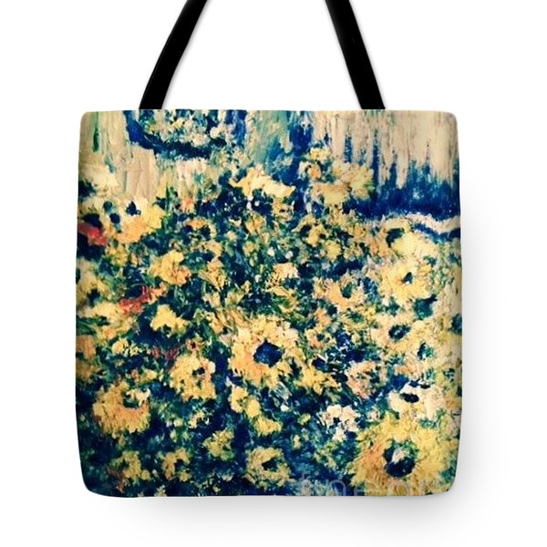Tote Bag featuring the photograph Blue Septembre by Laurie L
