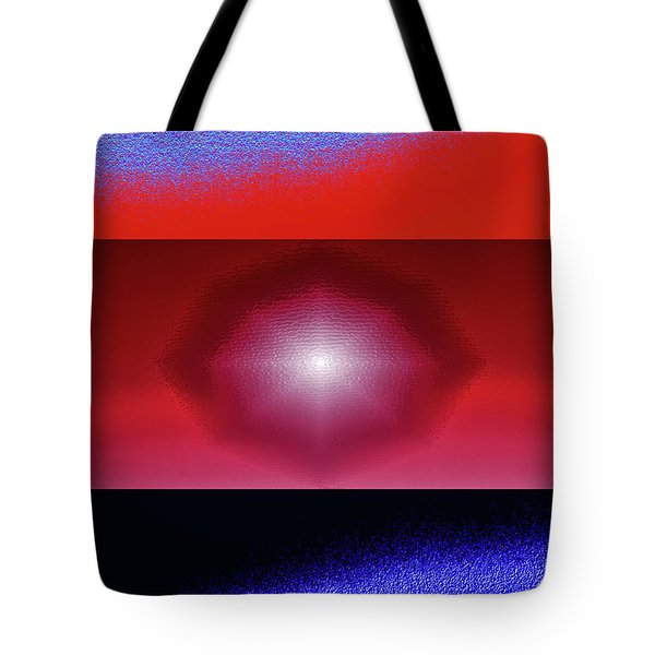 Blue Series Triptych Tote Bag