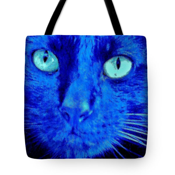 Blue Shadows Tote Bag