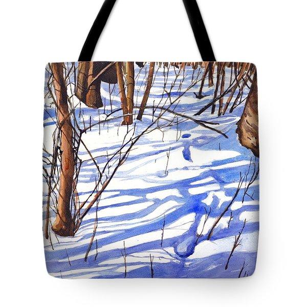 Blue Shadows Tote Bag