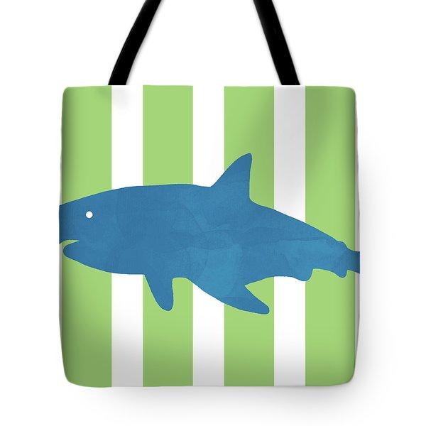 Blue Shark 1- Art By Linda Woods Tote Bag