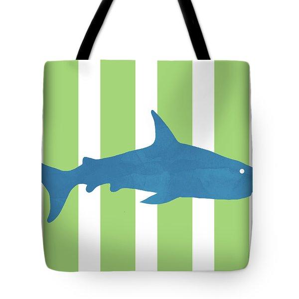Blue Shark 2- Art By Linda Woods Tote Bag