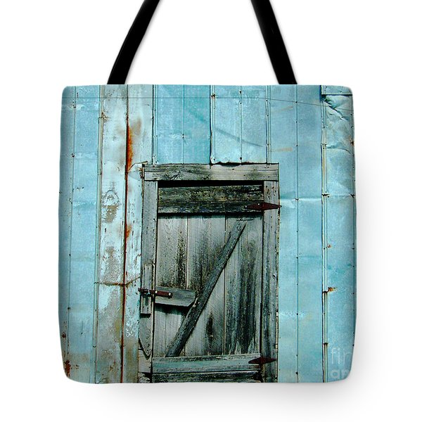 Blue Shed Door  Hwy 61 Mississippi Tote Bag