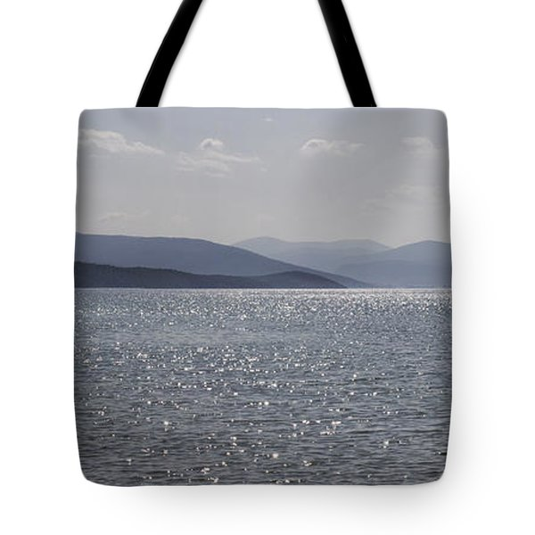Blue Tote Bag by Shirley Mitchell
